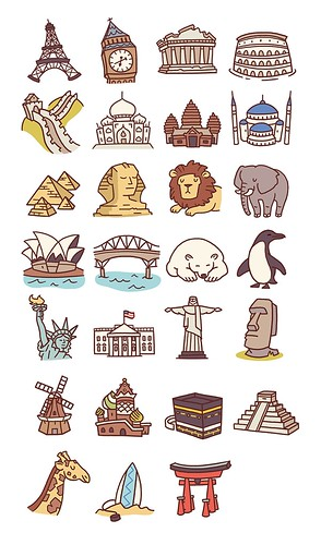 Travel Icons Pt2 Client work Anneka Tran Flickr