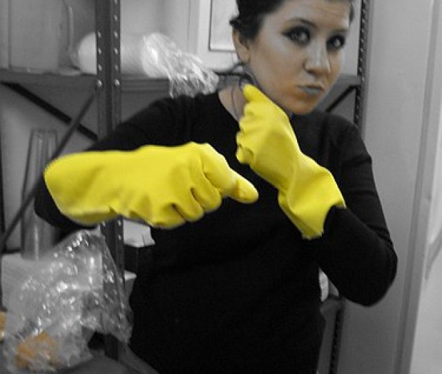 Selective Coloring Series Yellow Rubber Gloves By Some_odd_girl