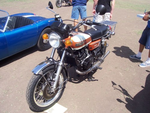 small resolution of  1971 yamaha r5 engine replaced by watercooled rz engine by bcgreeneiv