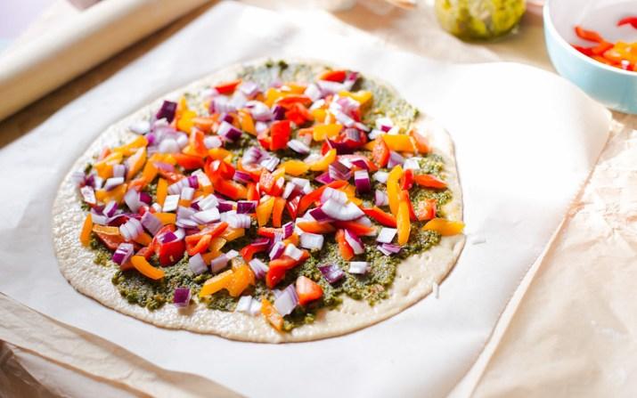 Herb Pesto Vegetable Pizza