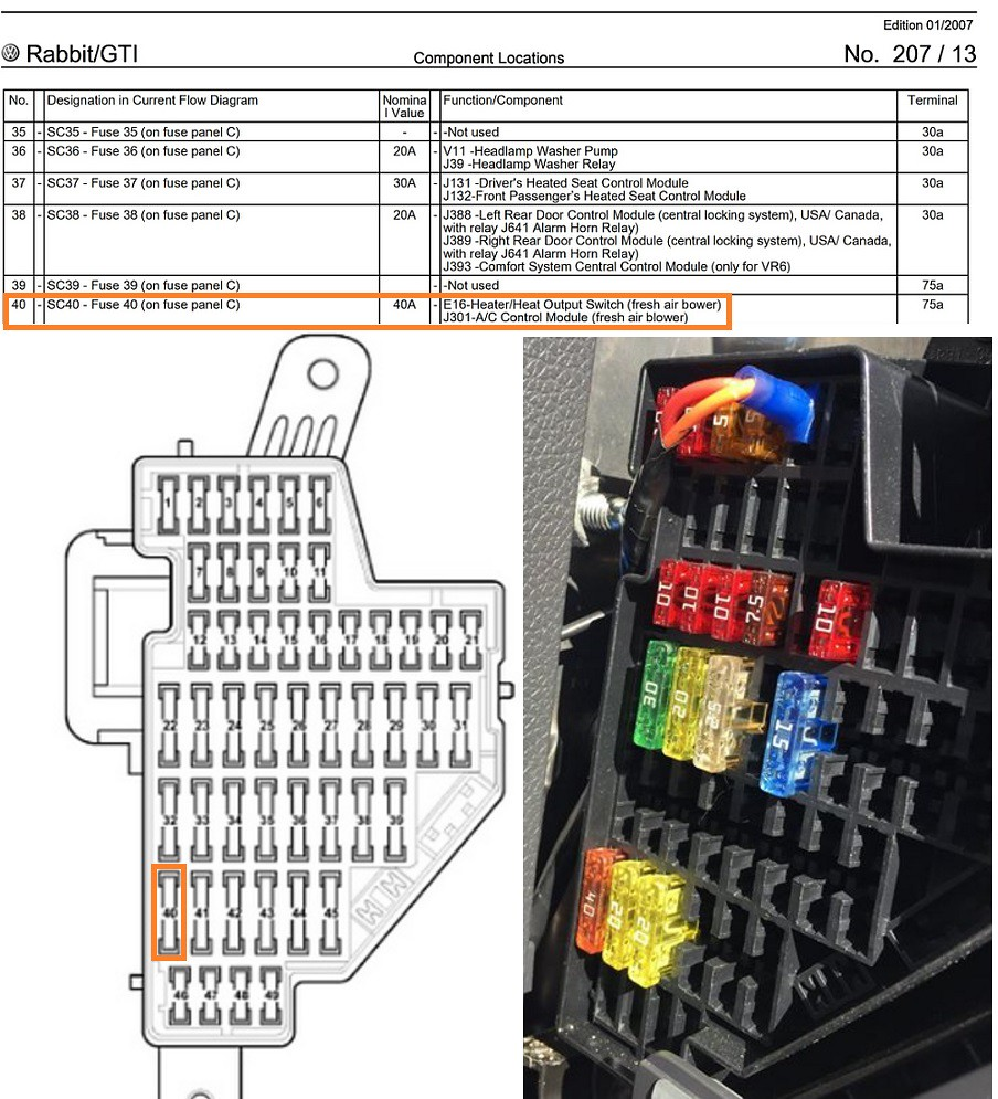 hight resolution of 2009 vw rabbit fuse diagram wiring diagram for you 2008 vw rabbit fuse box diagram 2007
