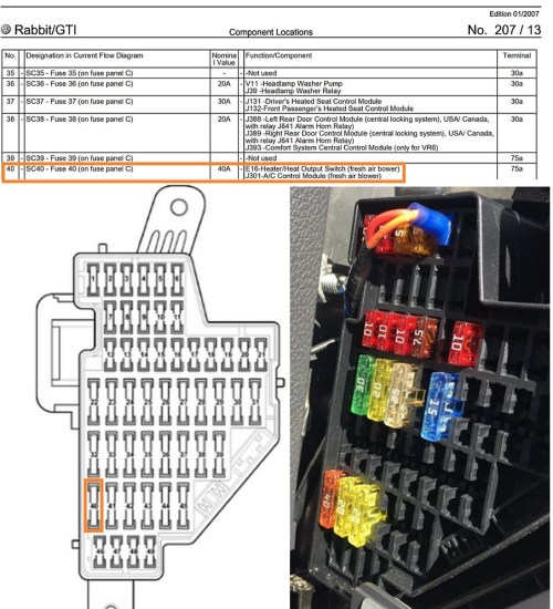 small resolution of 2006 rabbit fuse diagram wiring diagram toolboxvw routan fuse box 18