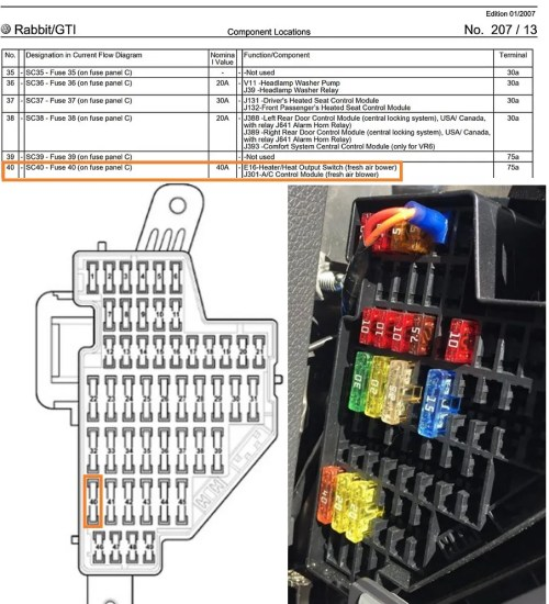 small resolution of 2009 vw rabbit fuse diagram wiring diagram for you 2008 vw rabbit fuse box diagram 2007