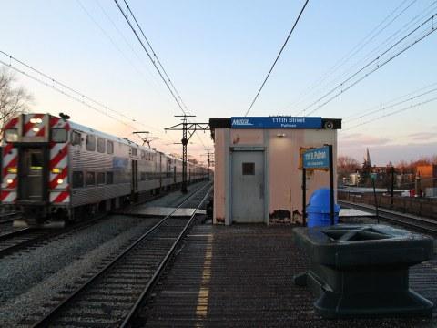 Metra Electric District Train at 111th Street (Pullman)