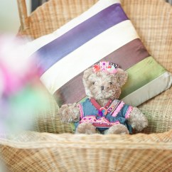 Swing Chair Local Best Back Massager For Teddy Bear A Cute On Swinging With Col Flickr Colorful Pillow
