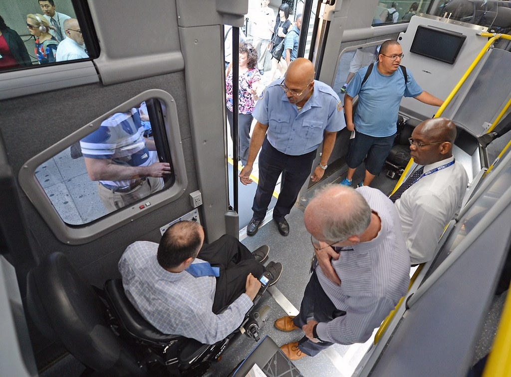 wheelchair express hanging chair for teenager ramp bus demo mta new york city transit flickr by mtaphotos