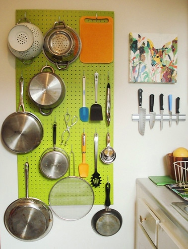 Kitchen Pegboard Idea  I would love to add a pegboard