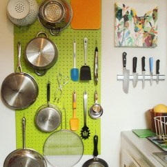 Kitchen Knife Magnet Stainless Steel Appliance Set Pegboard Idea | I Would Love To Add A ...