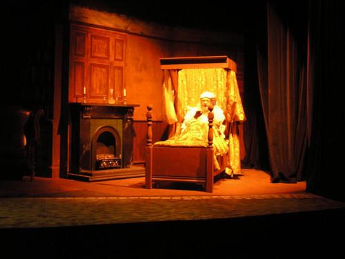 Christmas Carol  Scrooge in bed  Matthew Horton as