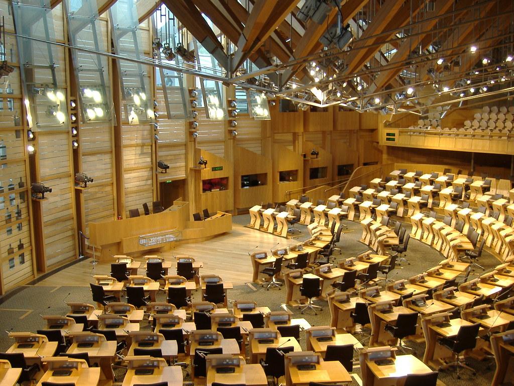 The Scottish Parliament debating chamber  The debating