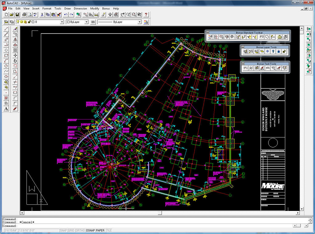 AutoCAD R14 ButterflyHouse Sample DWG By D Harrington Flickr