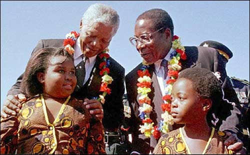 Former South African President Nelson Mandela During A 199