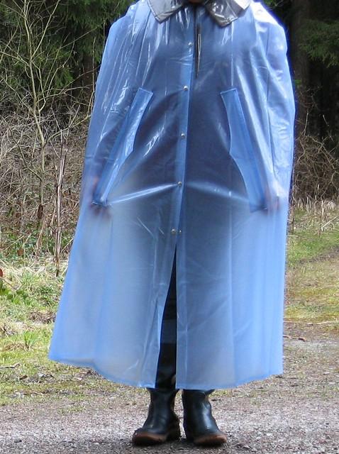 Cape PVC blue  Rainhood  Flickr