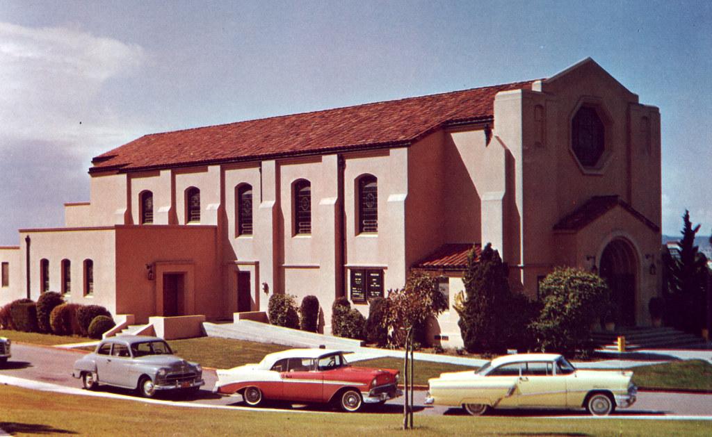 San Diego CA Old Naval Hospital Chapel 1955 The Naval