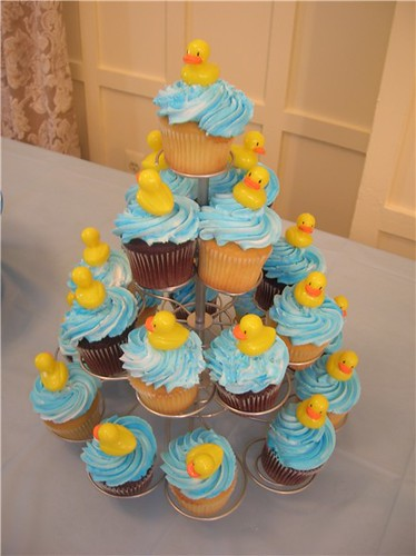 Rubber Duckie Cupcakes  Duckie cupcake tower  Heather