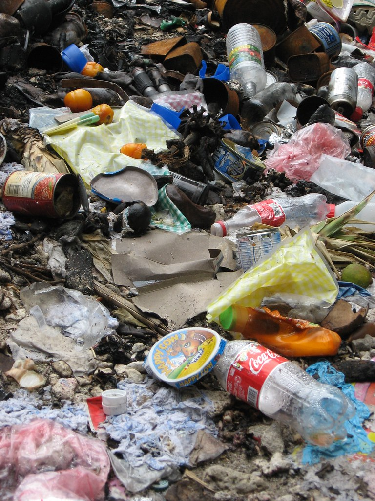 Plastic Bottles And Other Recyclables Thrown In Garbage Pi