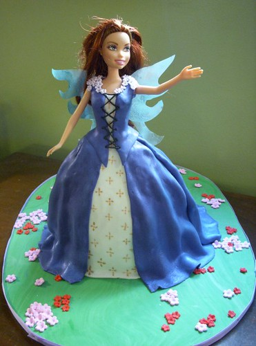 Fairy Princess Doll Cake  My first one just for practice