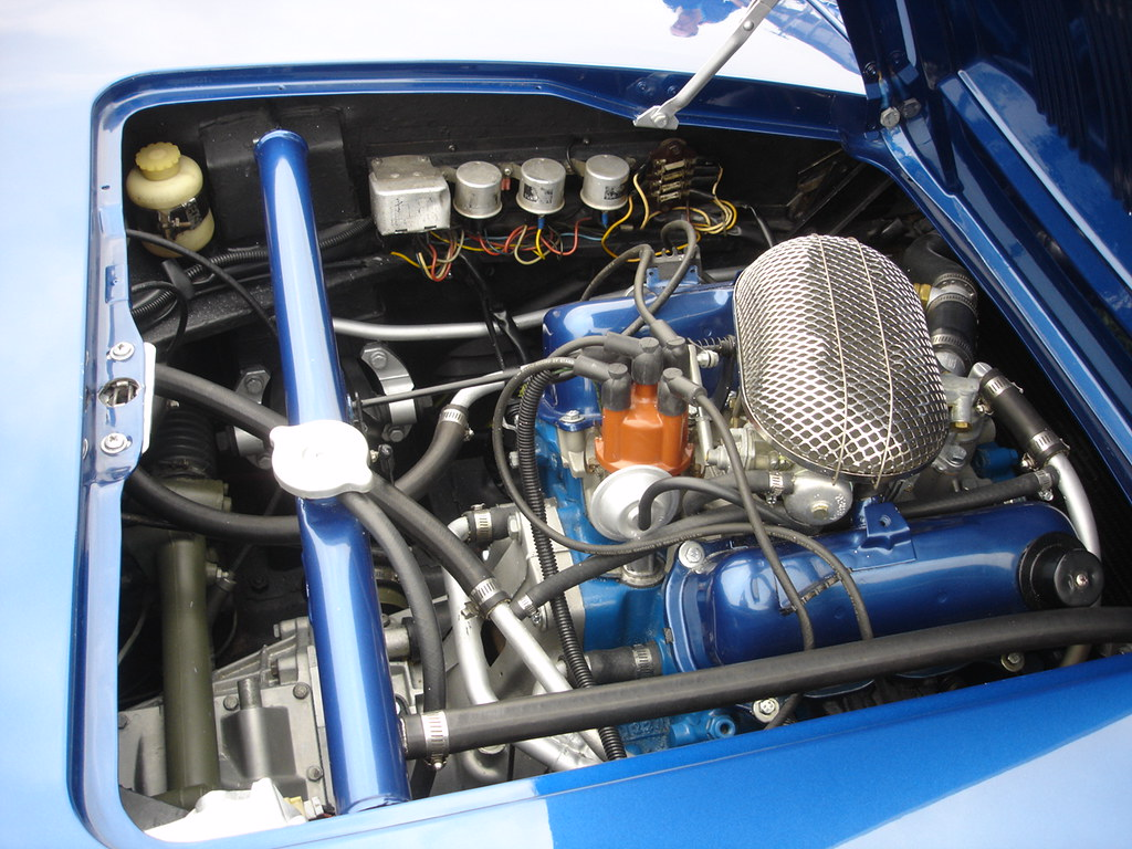 Saab Sonett engine bay  According to the cars spec sheet