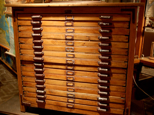 Beautiful Flat File Cabinet  At the Paris Market www