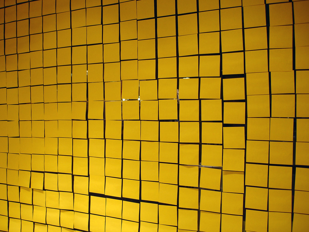 Free Animated 3d Wallpaper 09 02 08 Post It Wall Design Torget Stockholm Flickr
