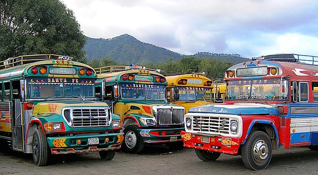 "the ""chicken buses"" of Guatemala"