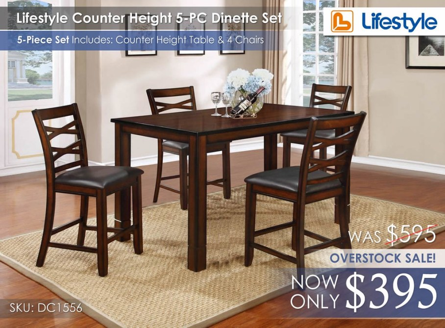 Lifestyle Counter Height Dinette 5PC Set