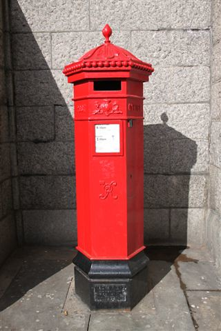 London early Victorian post box  This is at the foot of