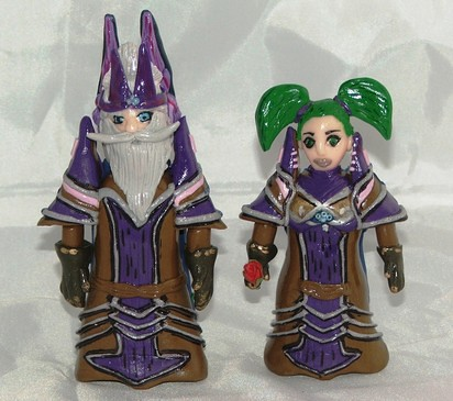 Cake Toppers From World Of Warcraft Game These Fimo Cake