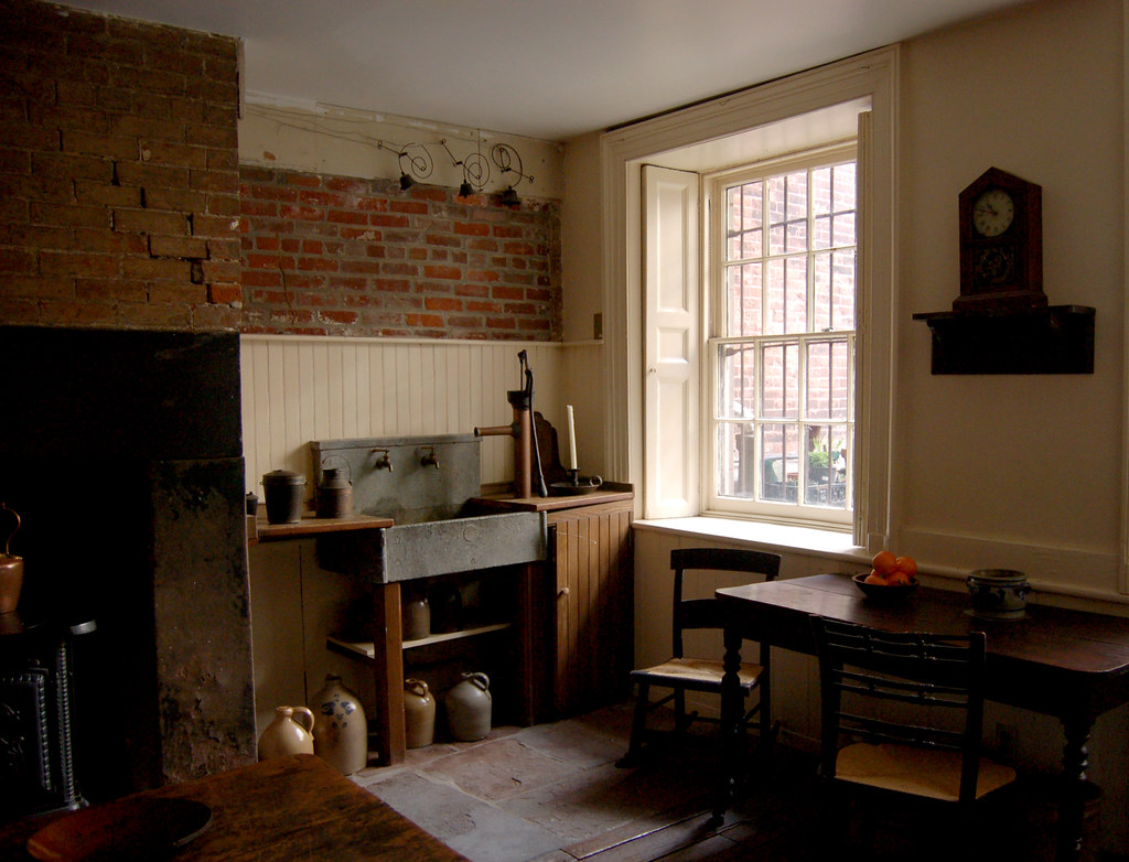 19th century kitchen Water was pumped in from a cistern u