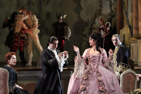 Ksenia Dudnikova, Angela Gheorghiu and Brian Jagde in Adriana Lecouvreur, The Royal Opera © ROH 2017. Photo by Catherine Ashmore