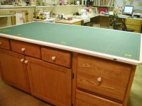 Sewing Room Cutting Table   Cutting table has drawers and ...
