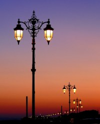 The gallery for --> Street Lamp At Night Painting
