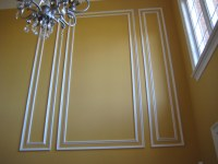 Shadow box wainscoting   wood paneling on a wall also ...