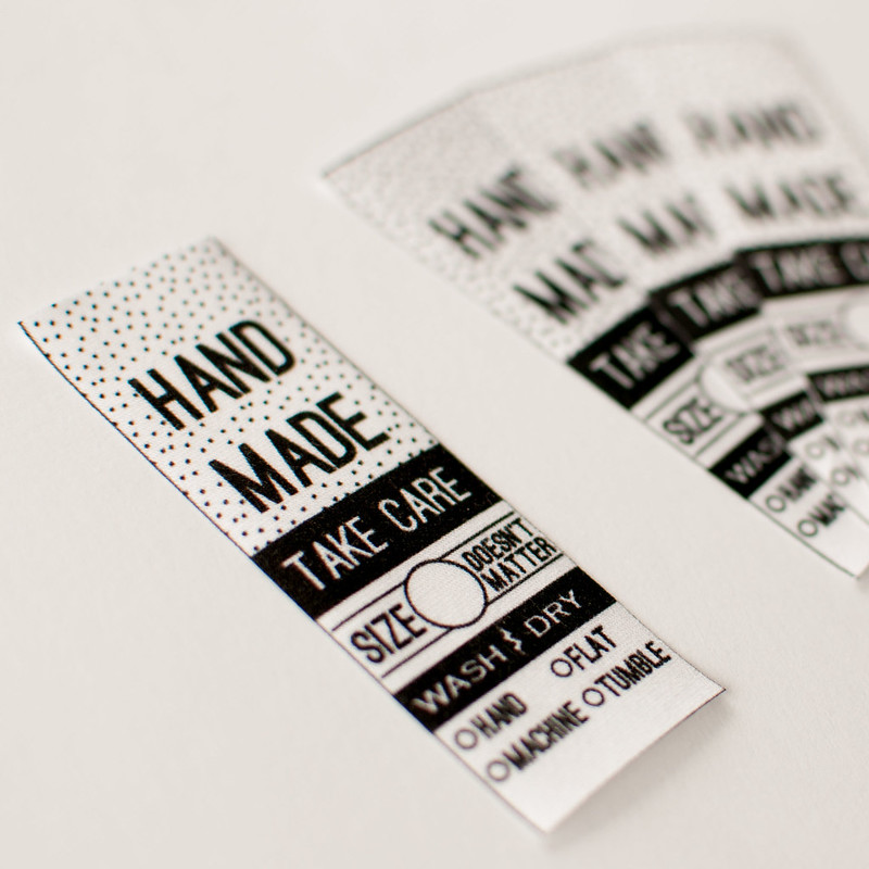 """Handmade"" apparel labels"