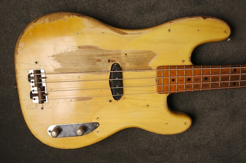 1954 Fender Precision Bass  Body with pickguard removed