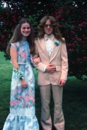 70's prom fashion holy hair
