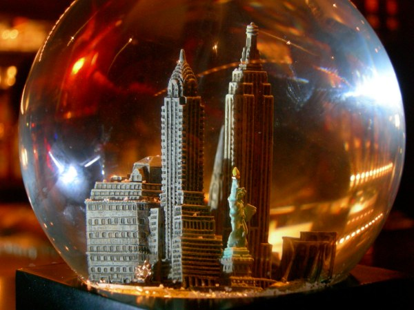 New York Snow Globe Creative Commons As seen in a bar