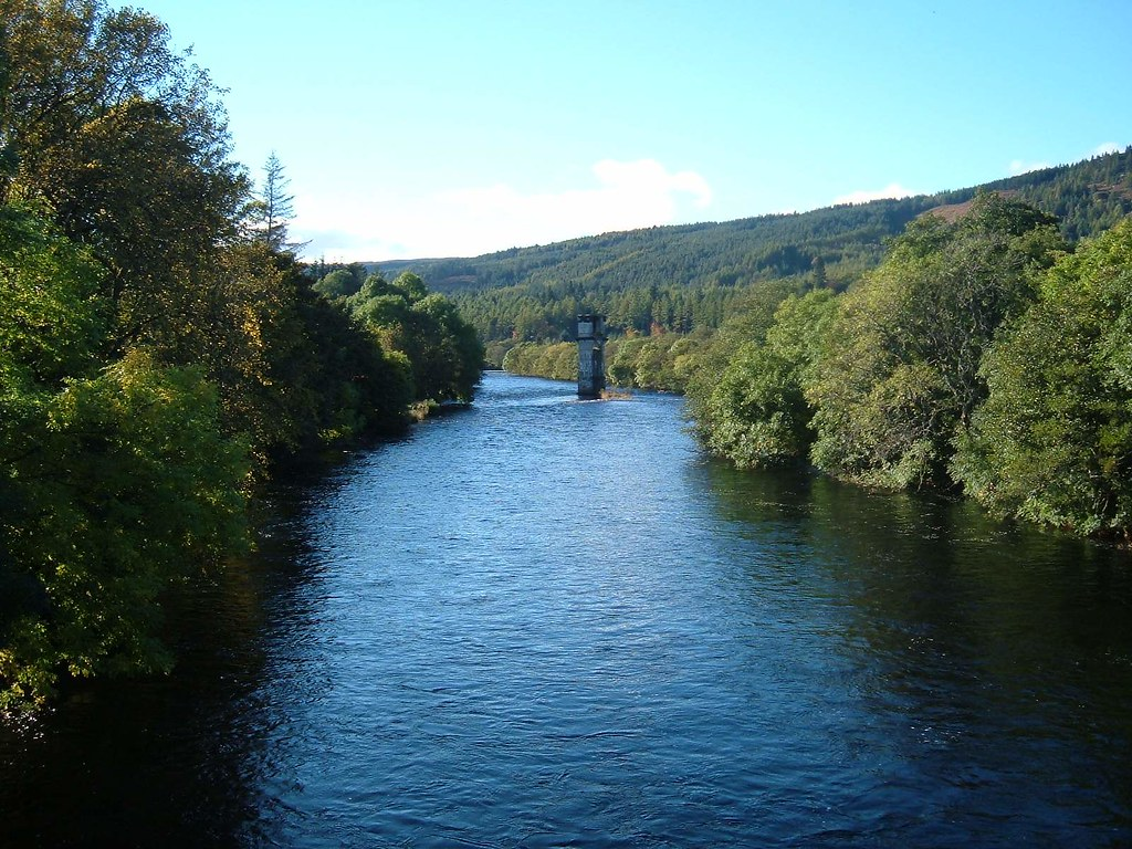 River Oich at Fort Augustus Loch Ness Scotland EXPLORED