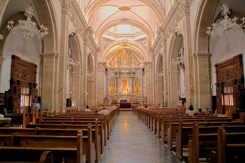 interior de la catedral de Chihuahua  De las pocas fotos