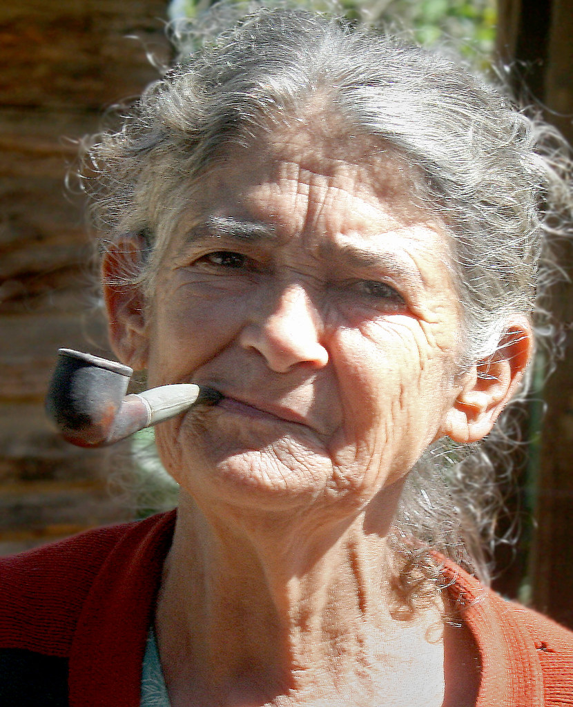 Smoking Lady She Lives A Simple Life In An Old Shack In