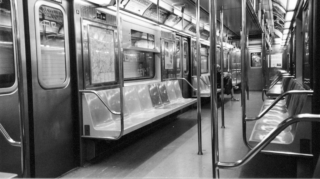 Inside A Number 1 Train New York City Subway Car  Photogr