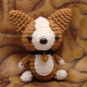 Amigurumi Corgi puppy dog with collar and heart charm  Flickr