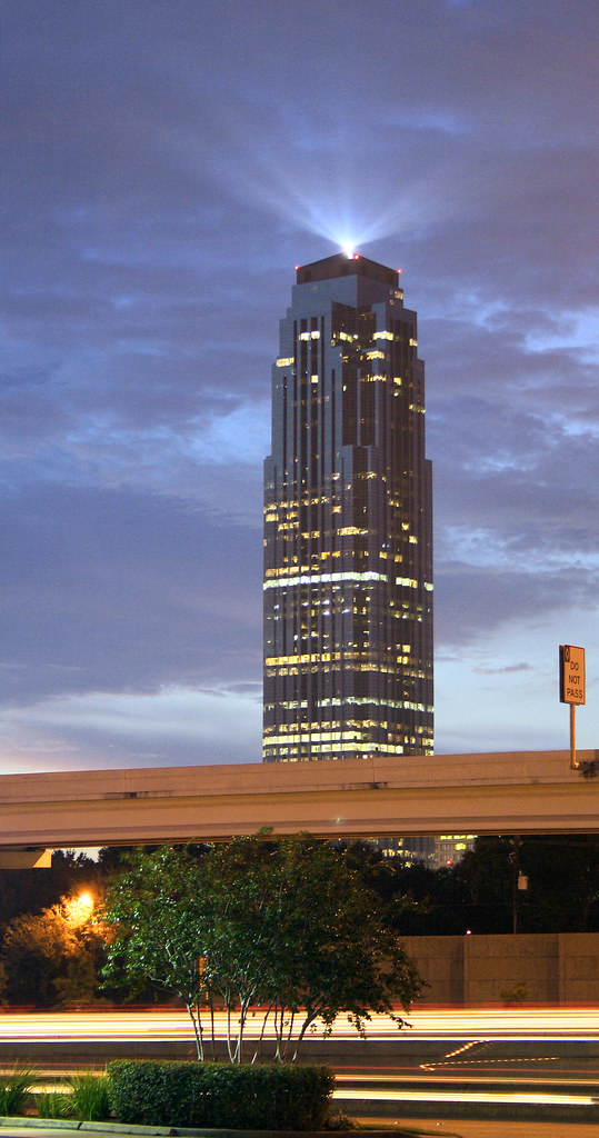 Transco Tower and Beacon  Houston    View On Black