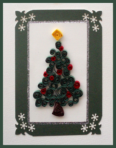 Handmade Christmas Card Handmade Quilling Christmas Tree