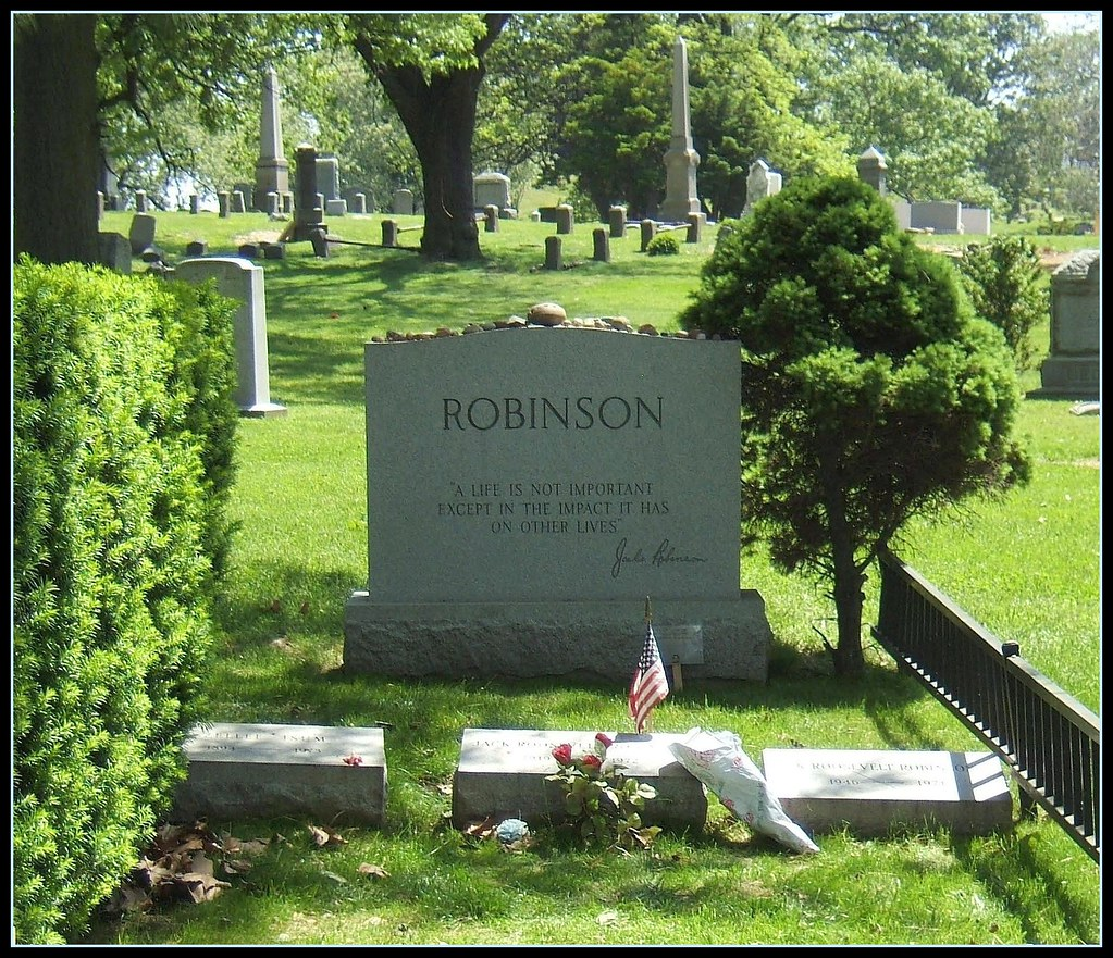 Jackie Robinson Civil Rights Pioneer note the epitaph an  Flickr