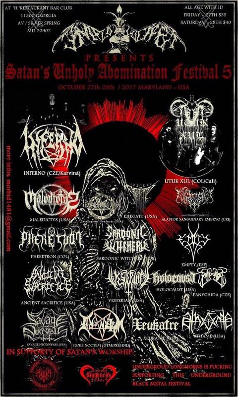 Satan's Unholy Abomination Festival 5