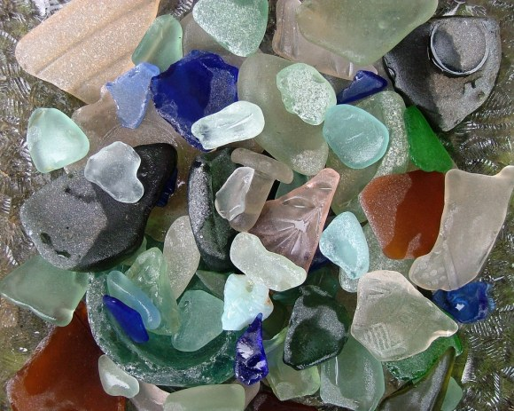 seaglass collection- Worn and Weathered Wednesday