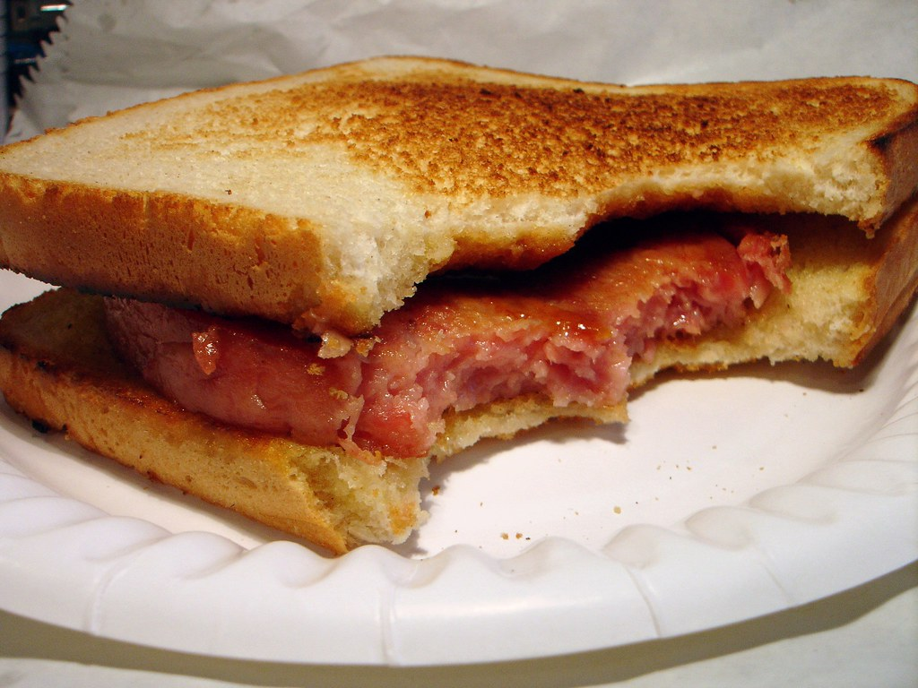 Bacon Grill on Toast  What better way to start the day