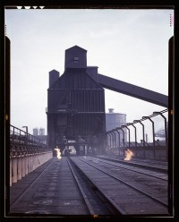 Hanna furnaces of the Great Lakes Steel Corporation, Detro ...