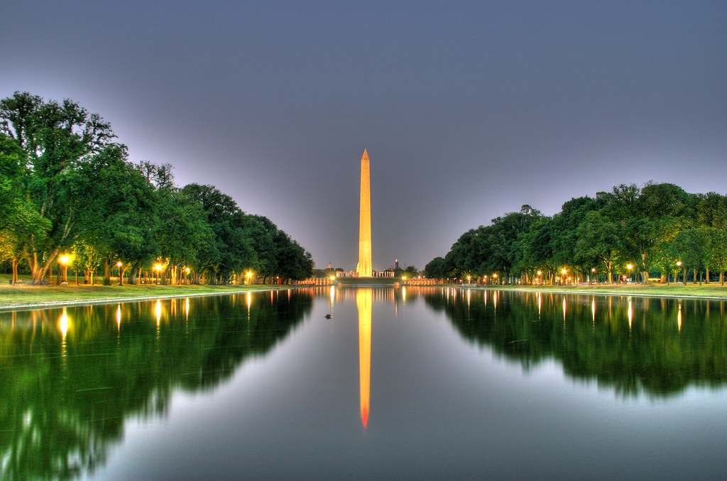 Reflecting Pool and Washington Monument at Night  An attemp  Flickr
